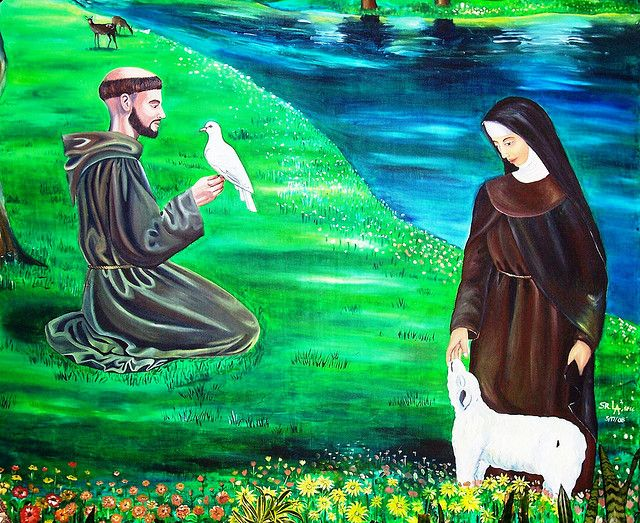 Painting of st Francis with sun and moon   Recent Photos The Commons Getty Collection Galleries World Map App ...