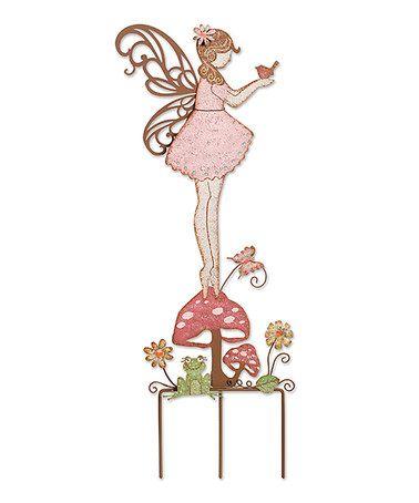 Another great find on #zulily! Pink Fairy & Frog Garden Stake #zulilyfinds