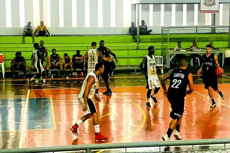 O time de basquete masculino de Santos garantiu vaga nas quartas de final e  o feminino 7d155744425c9