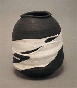 Japanese Clay Pot with Shino Glaze