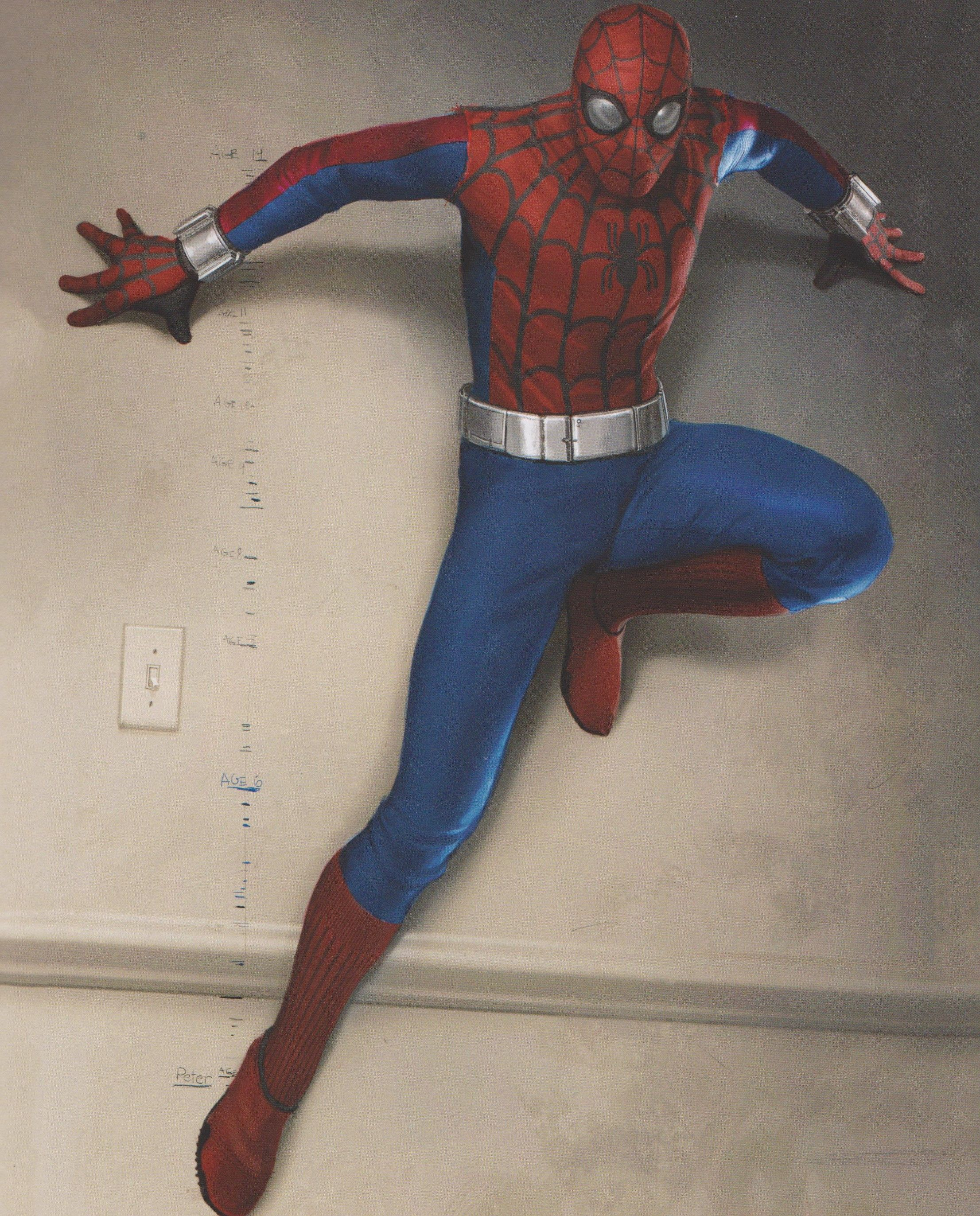 Spider Man Homecoming Homemade Suit Concept Art Takes Unexpected Inspiration From The 70s Tv Series Spiderman Spiderman Homecoming Concept Art Spider