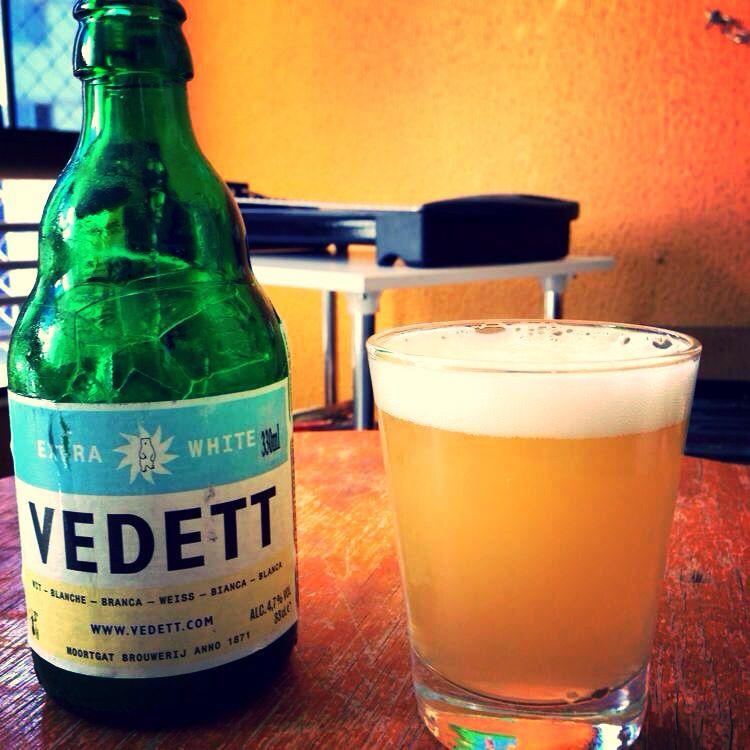 A deliciosa Vedett é uma das melhores witbeer que já experimentei.