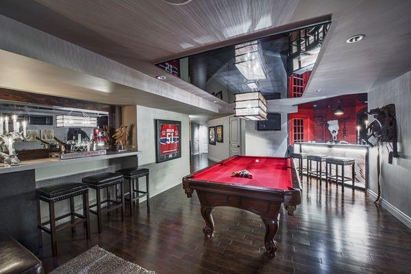 sous sol salle de jeu d co sandrine pinterest sous sol salle et salle de jeux. Black Bedroom Furniture Sets. Home Design Ideas