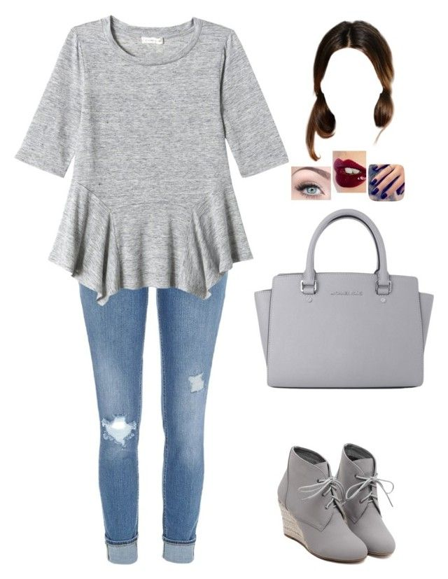 """""""Untitled #767"""" by sophloveshaz ❤ liked on Polyvore featuring River Island, Rebecca Taylor, WithChic, Michael Kors, Charlotte Tilbury and Lottie"""