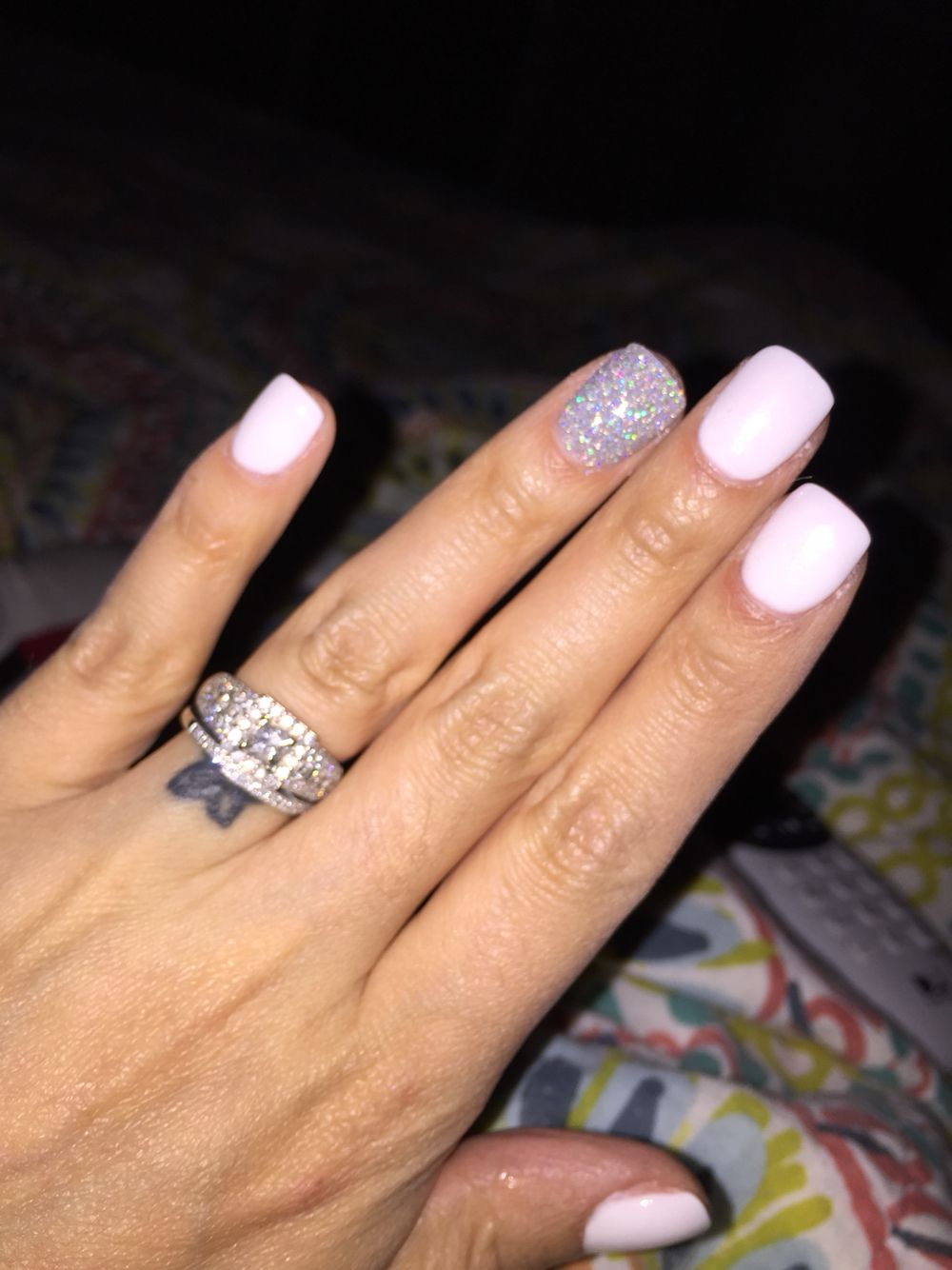 ahhhhh in love...next color i will get!!! White SNS nails | Nails ...
