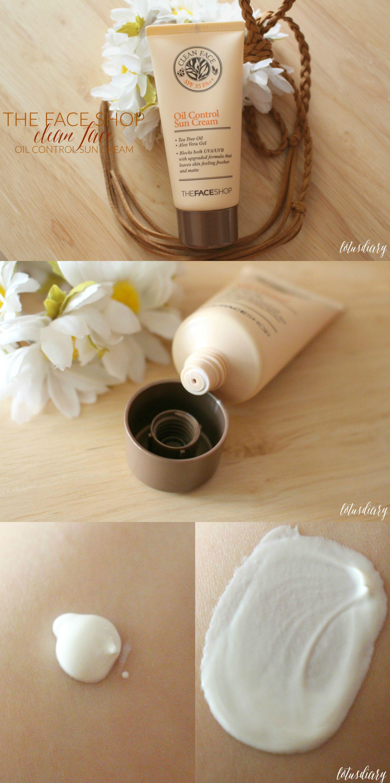 review the face shop clean face oil control sun cream  review the face shop clean face oil control sun cream more
