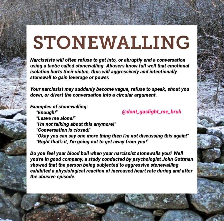 How to react to stonewalling