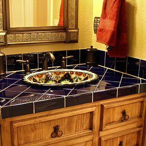Authentic talavera tile bathroom vanity bathroom design ideas pinterest bathroom vanities - Bathroom tiles talavera ...