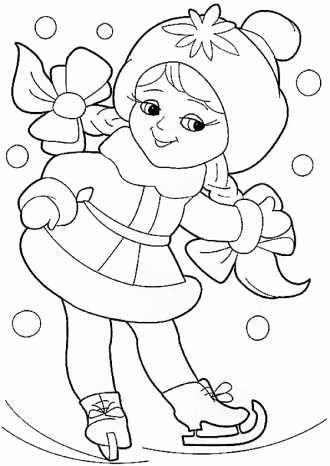 Раскраска снегурочка распечатать | Раскраски, Сказки ...
