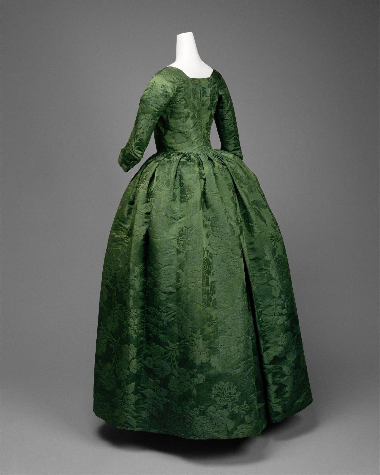 Ephemeral Elegance — Robe a l'Anglaise and Shoe Ensemble, ca. 1775 via... #dollvictoriandressstyles