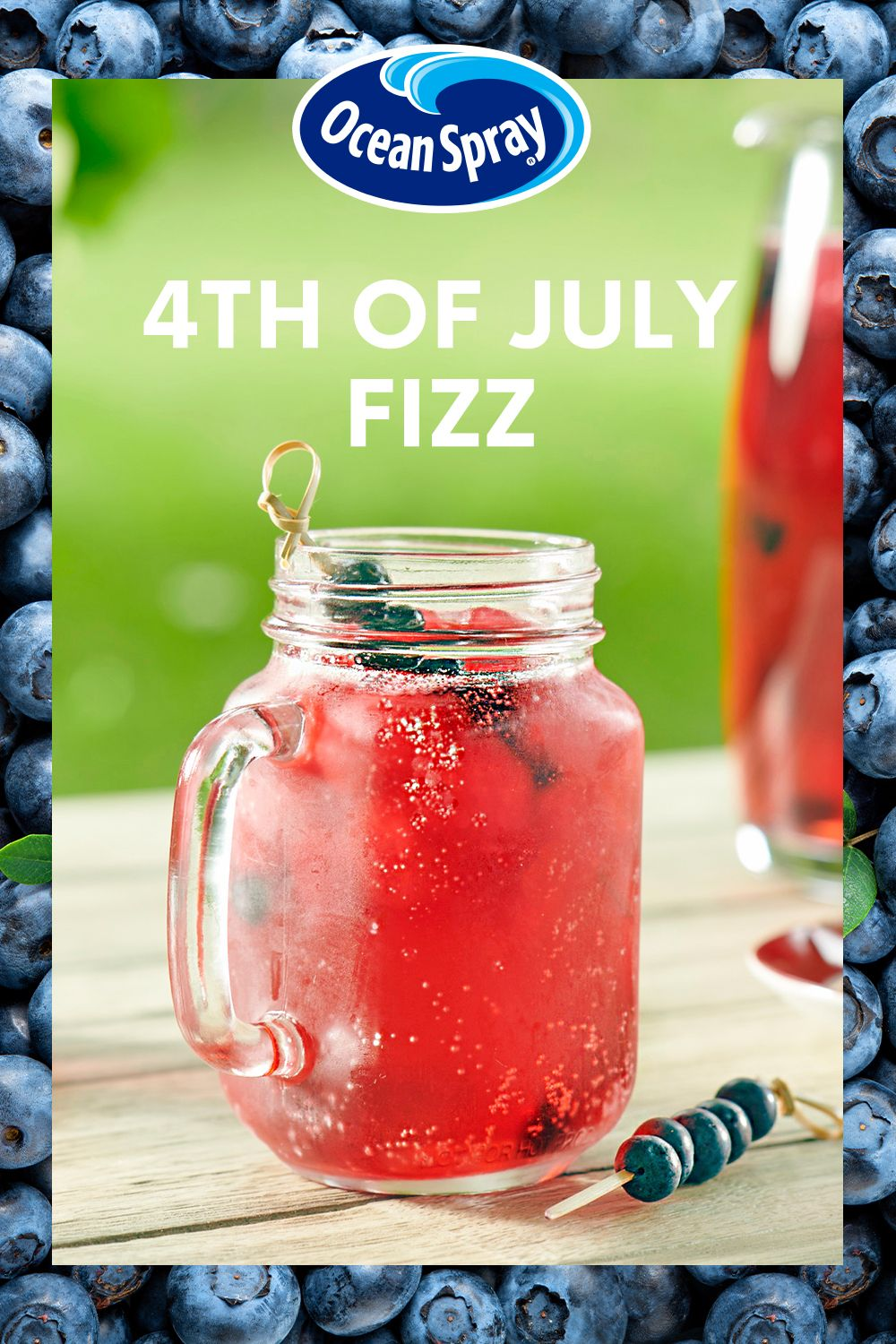 Fourth Of July Fizz Recipe In 2020 Alcohol Drink Recipes Mixed Drinks Recipes Holiday Drinks