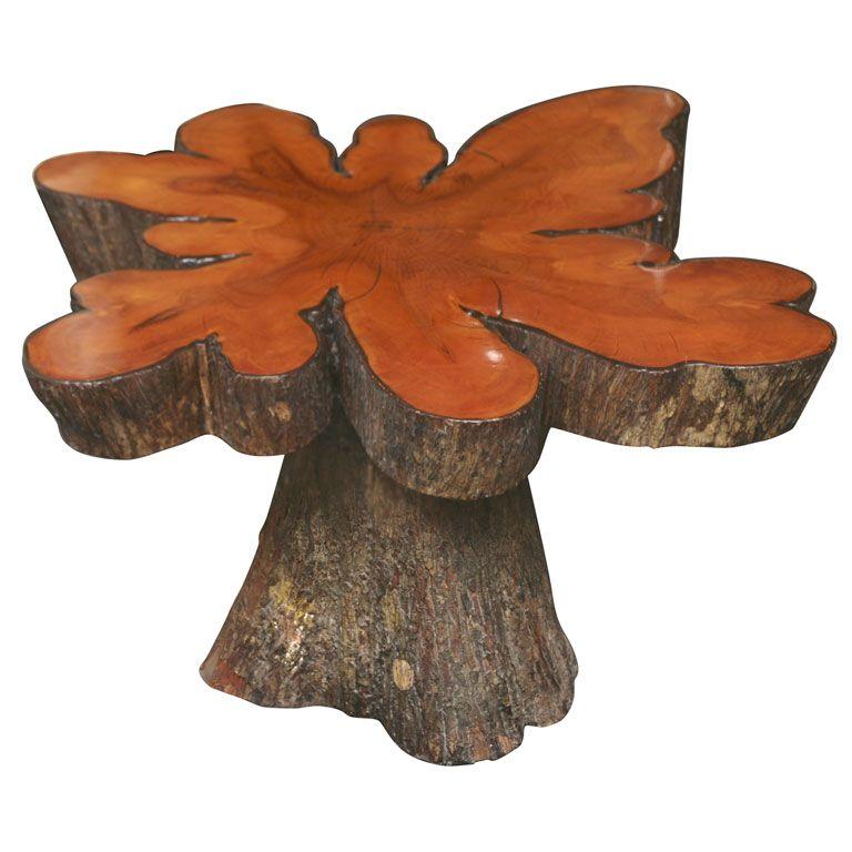 Attirant Cypress Tree Table!!! Love It