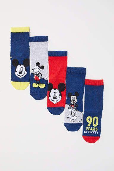 0d88e61d0 H&M 5-pack Socks - Blue | Products | Socks, Knitting socks, Cotton