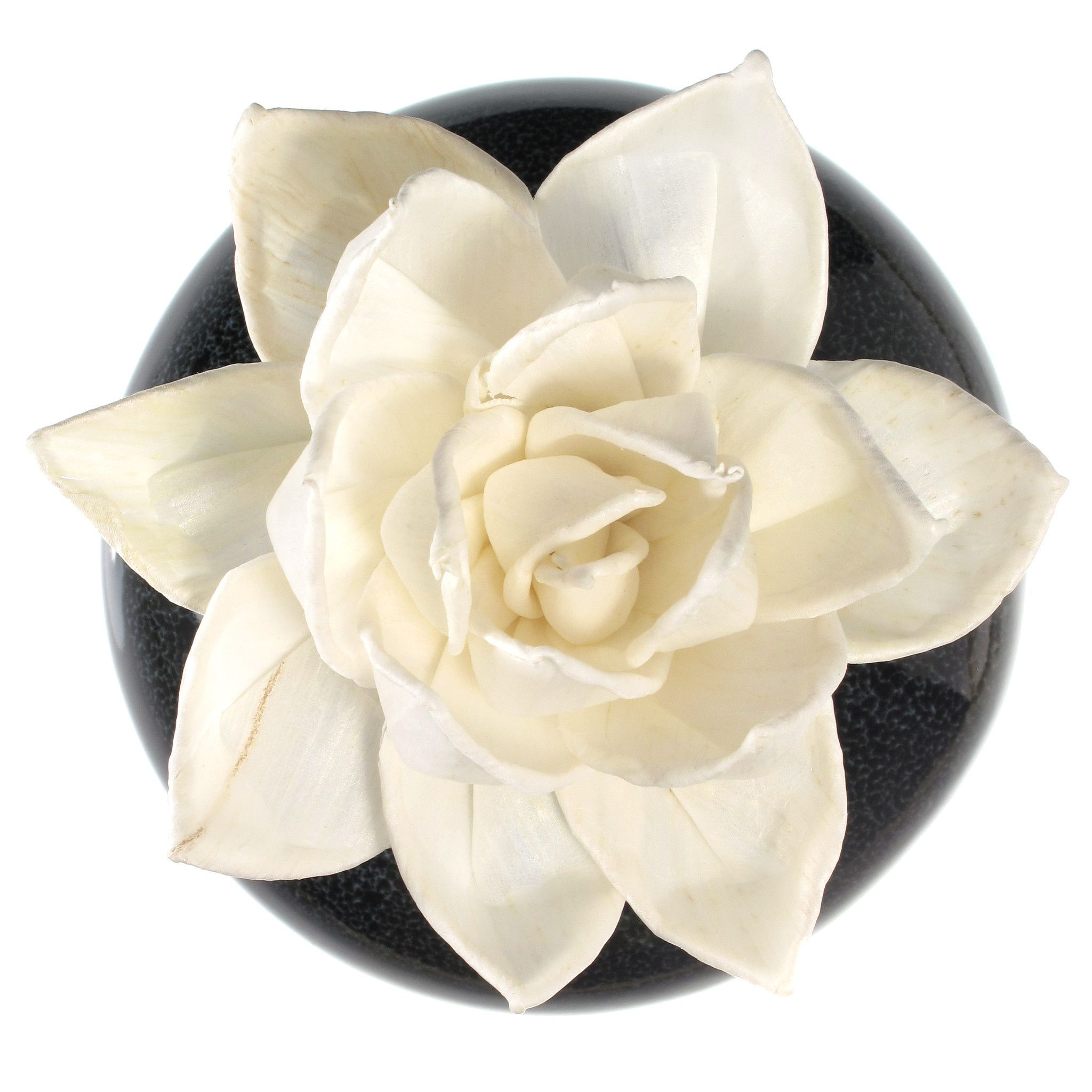 Sola Wood Flower Aroma Oil Diffuser With A Bendable Cotton Wire Wick