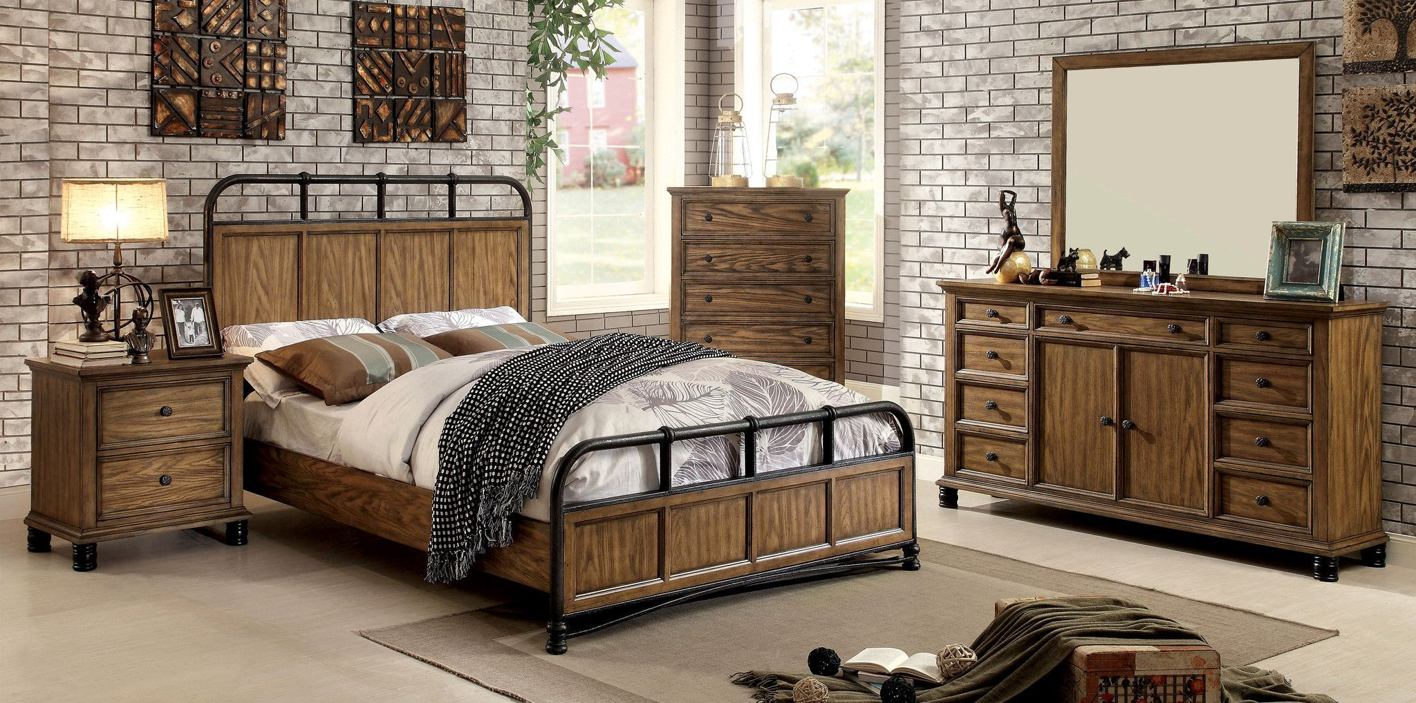 Merveilleux Mcville 4 Pcs Bedroom Sets   CM7558 Descriptions : A Trending Design,  Industrial Style Is The Latest In Fabulous Decorating Ideas!