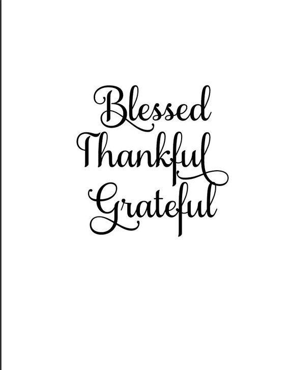 Blessed Svg Thankful Svg Grateful Svg Holiday Svg Holiday Decor