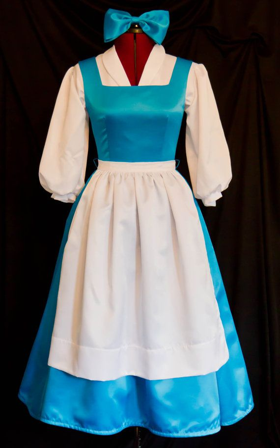 DELUXE Adult Blue BELLE Blue Provincial Costume CUSTOM Size on Etsy, $299.99... Wow this is expensive, but its perfect and I want it.