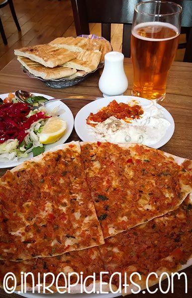 Aksular Turkish Restaurant, Lahmacun (Turkish Pizza). #intrepideats