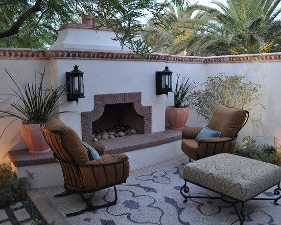 mediterranean narrow back yard design pictures remodel decor and rh co pinterest com