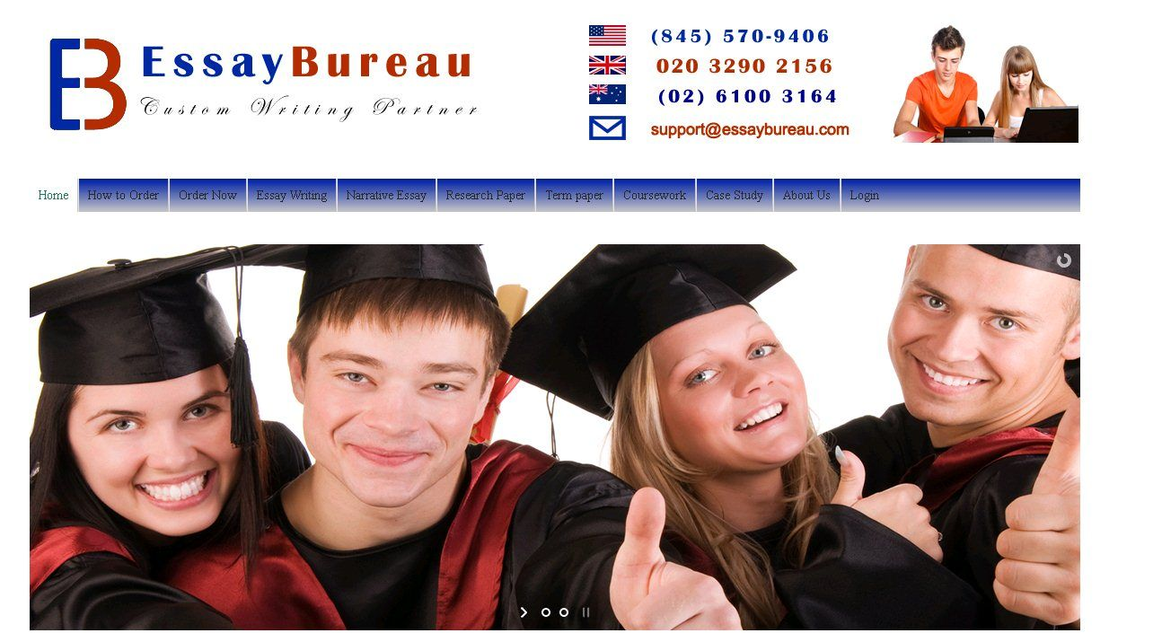 Essaybureau.com offers the best custom essay writing services including thesis writing, dissertation writing and assignment writing services to students in USA, Australia and UK. Our essay writers for hire writes plagiarism-free custom essays at affordable prices. Contact us!