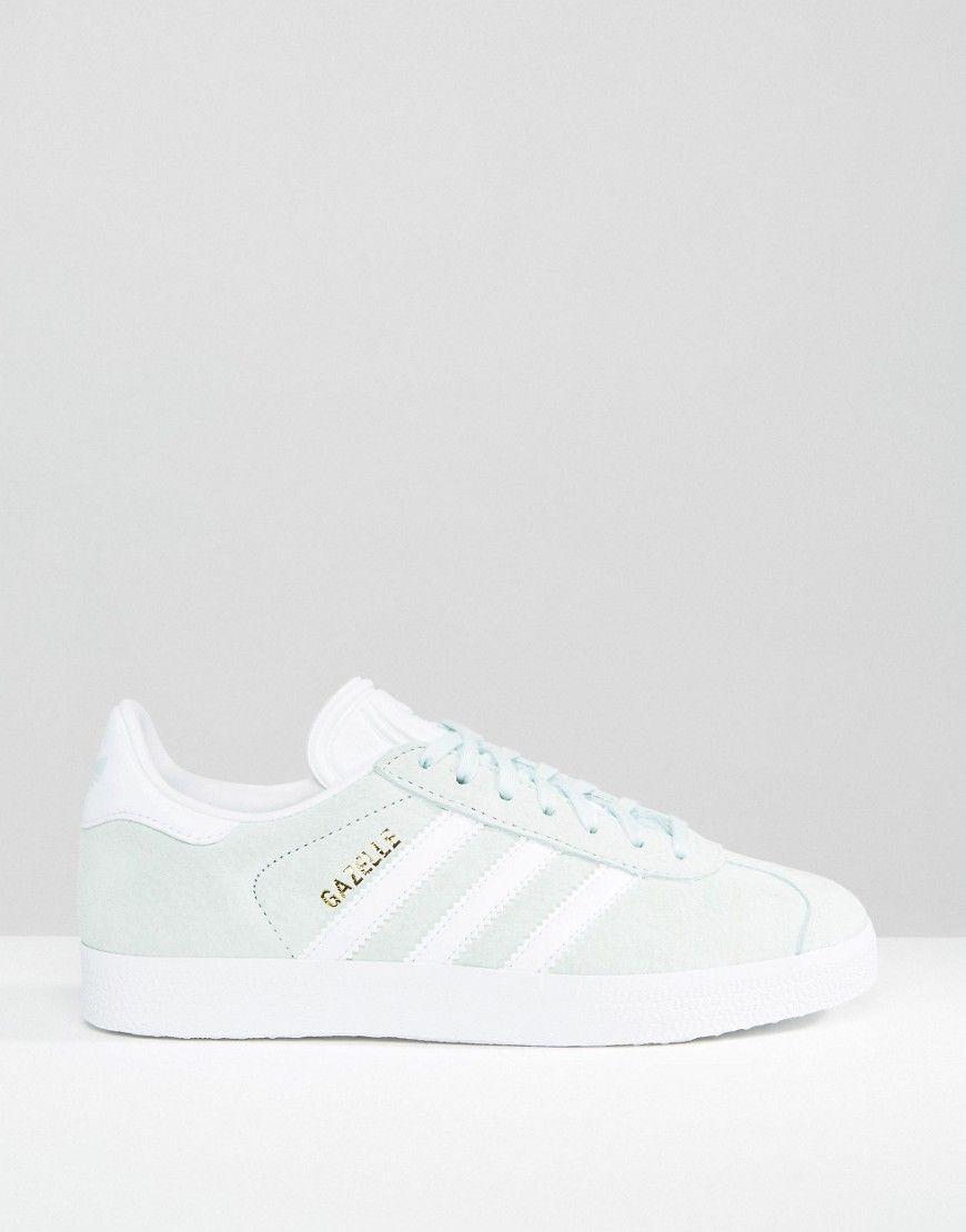 adidas Originals Gazelle Baskets en daim Vert menthe W