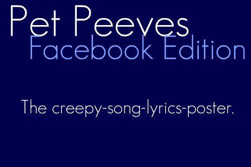 Pet Peeves: Facebook Edition   Pet peeves, Pets, Facebook