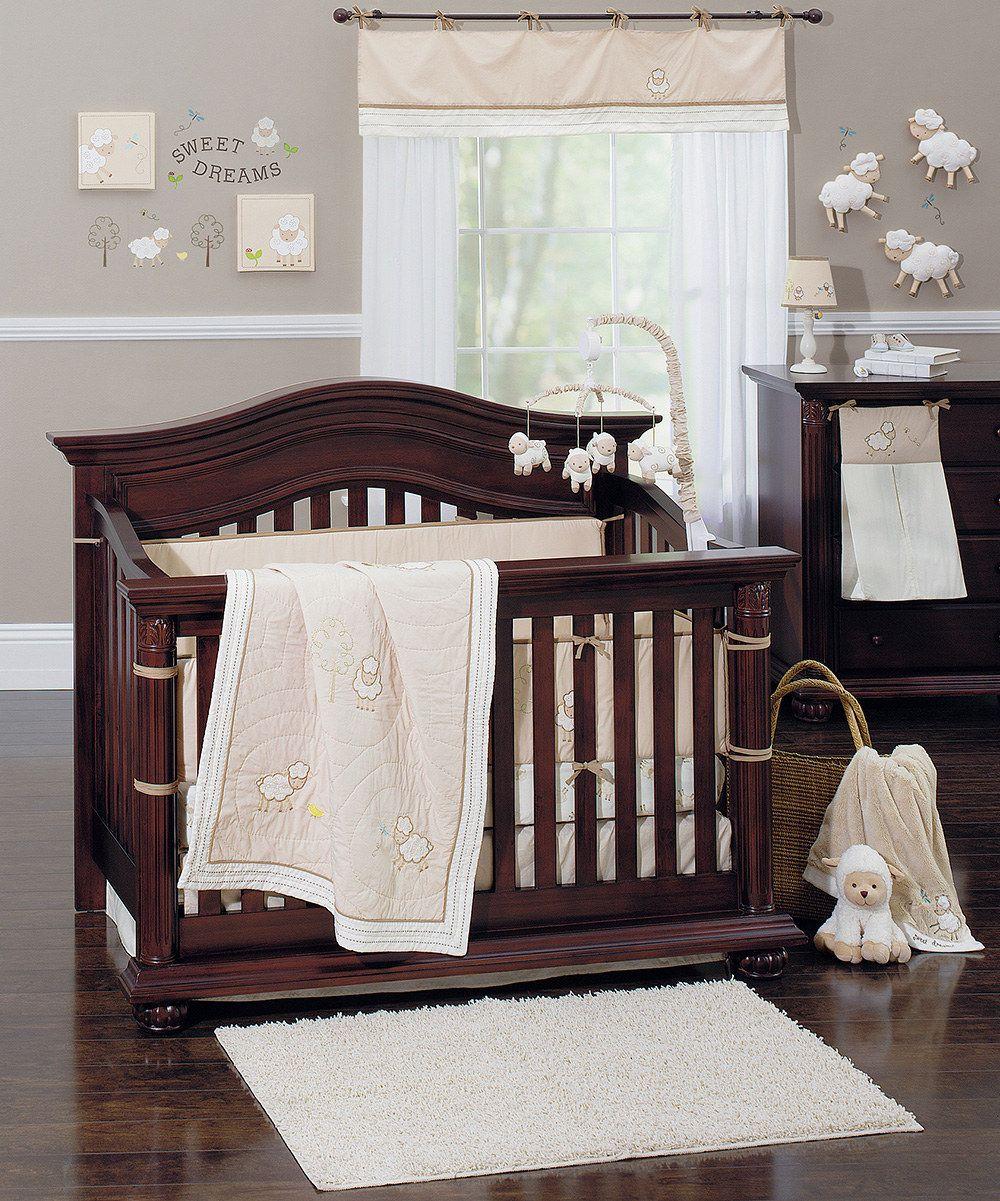 Best Crown Crafts Ivory Brown Little Lamb 14 Piece Nursery 400 x 300