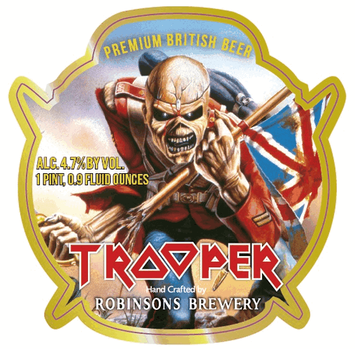 Iron Maiden S Trooper Ale By Robinsons Brewery Coming To U S In July Trooper Beer Beer Label Iron Maiden