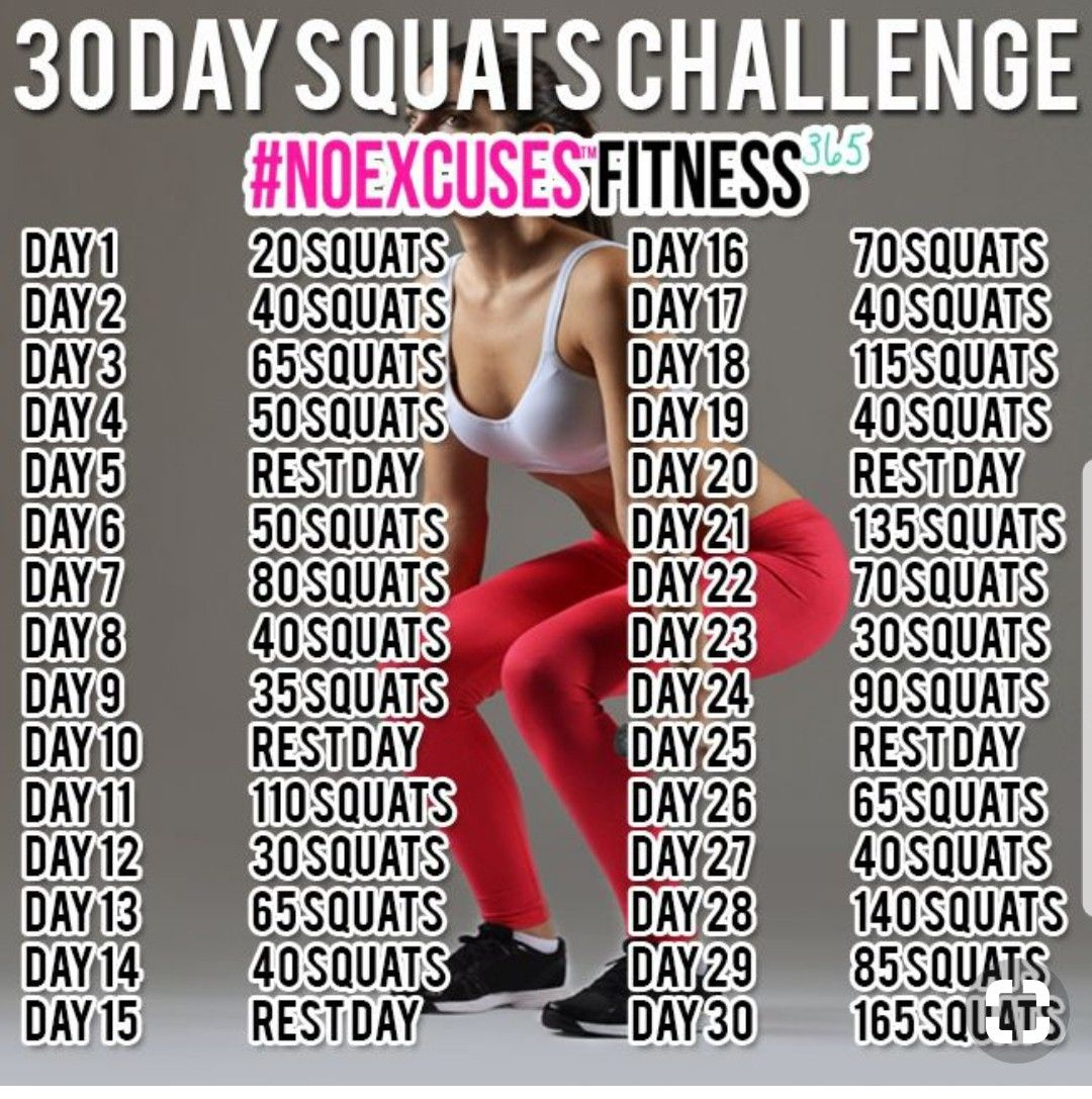 30 Day Squat Challenge With Images