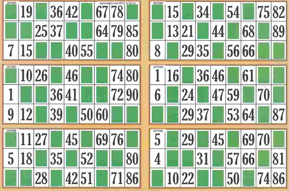 Moderne carte de bingo gratuit | Cartones de bingo, Bingo para imprimir EW-78