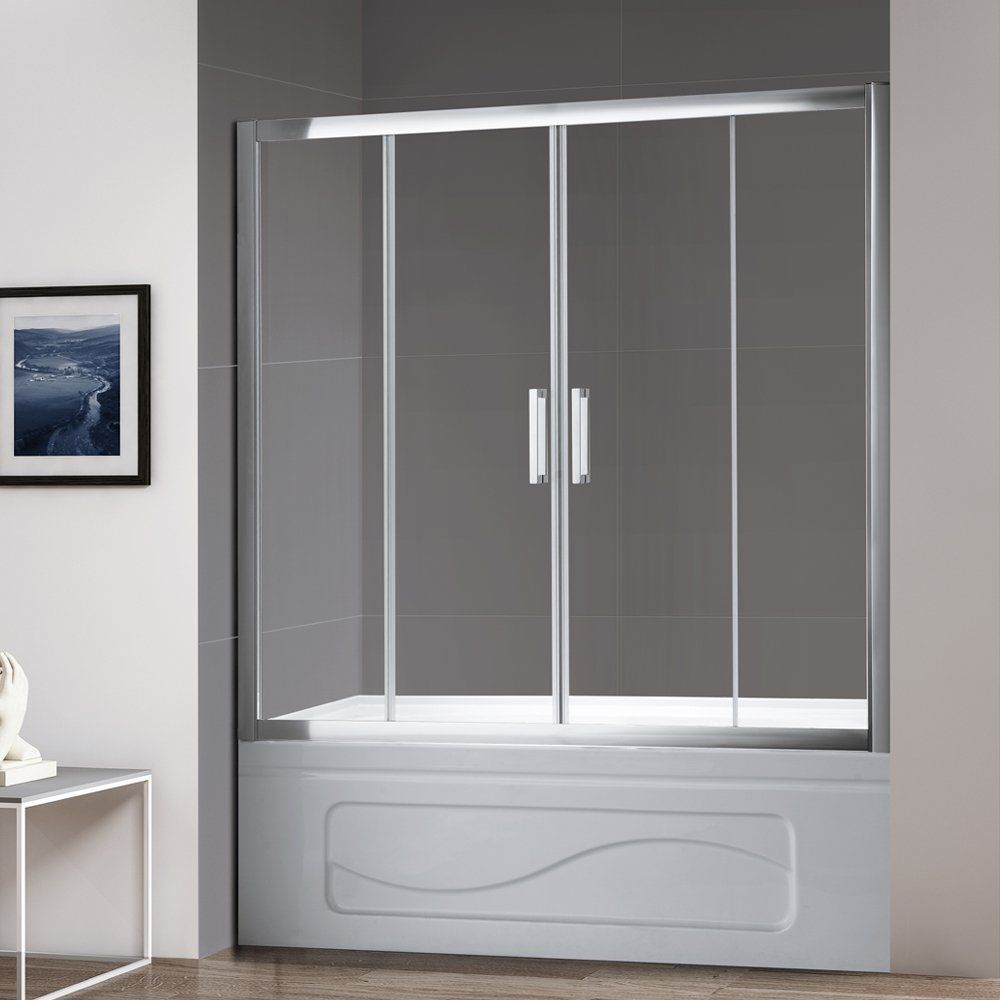 Mellewell 58 60 In Width Bathtub Sliding Shower Door Tub Screen 1