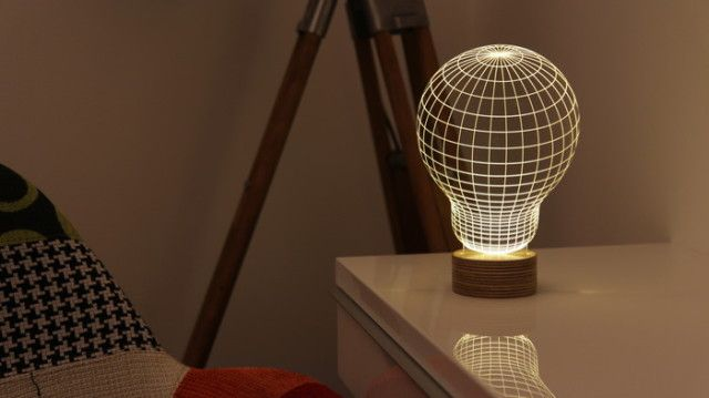 Bulbing A 2d Led Lamp Featuring 3d Wire Frame Images Lamp Design Magical Lamp Lamp
