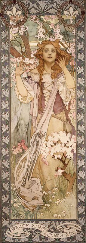 Maude Adams as Joan d'Arc, 1909 - Alphonse Mucha