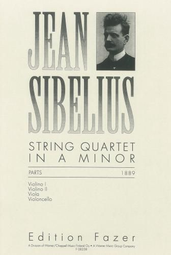 Jean Sibelius String Quartet In A Minor Parts Sibelius String