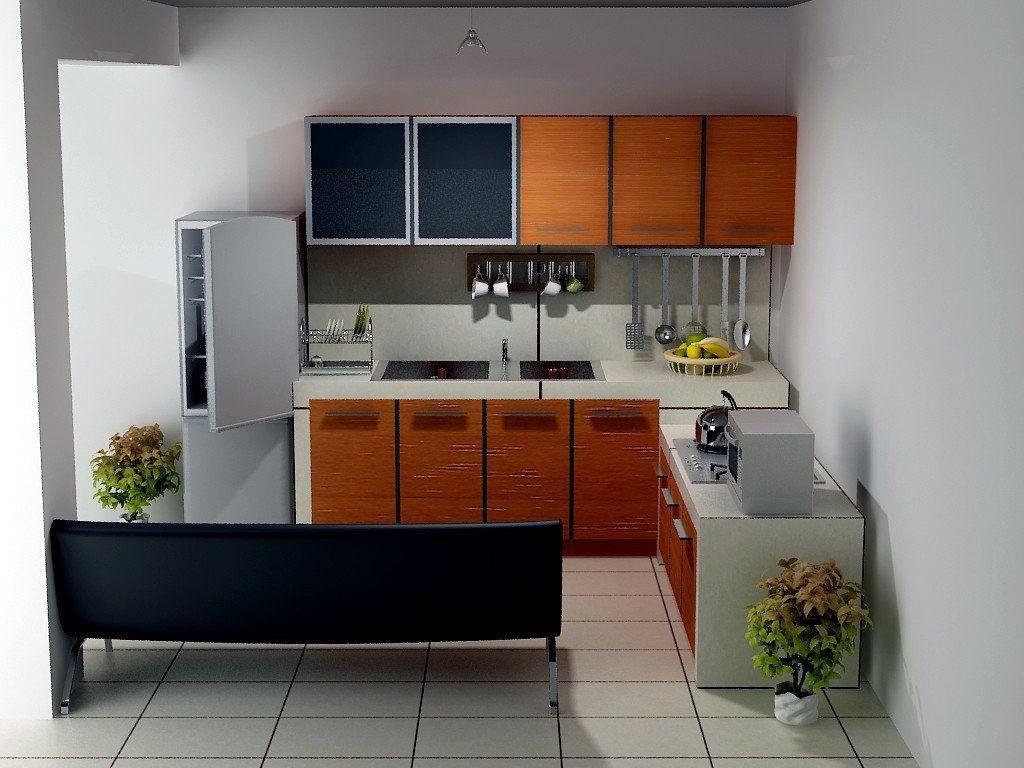 Desain Dapur Terbuka Tipe 36