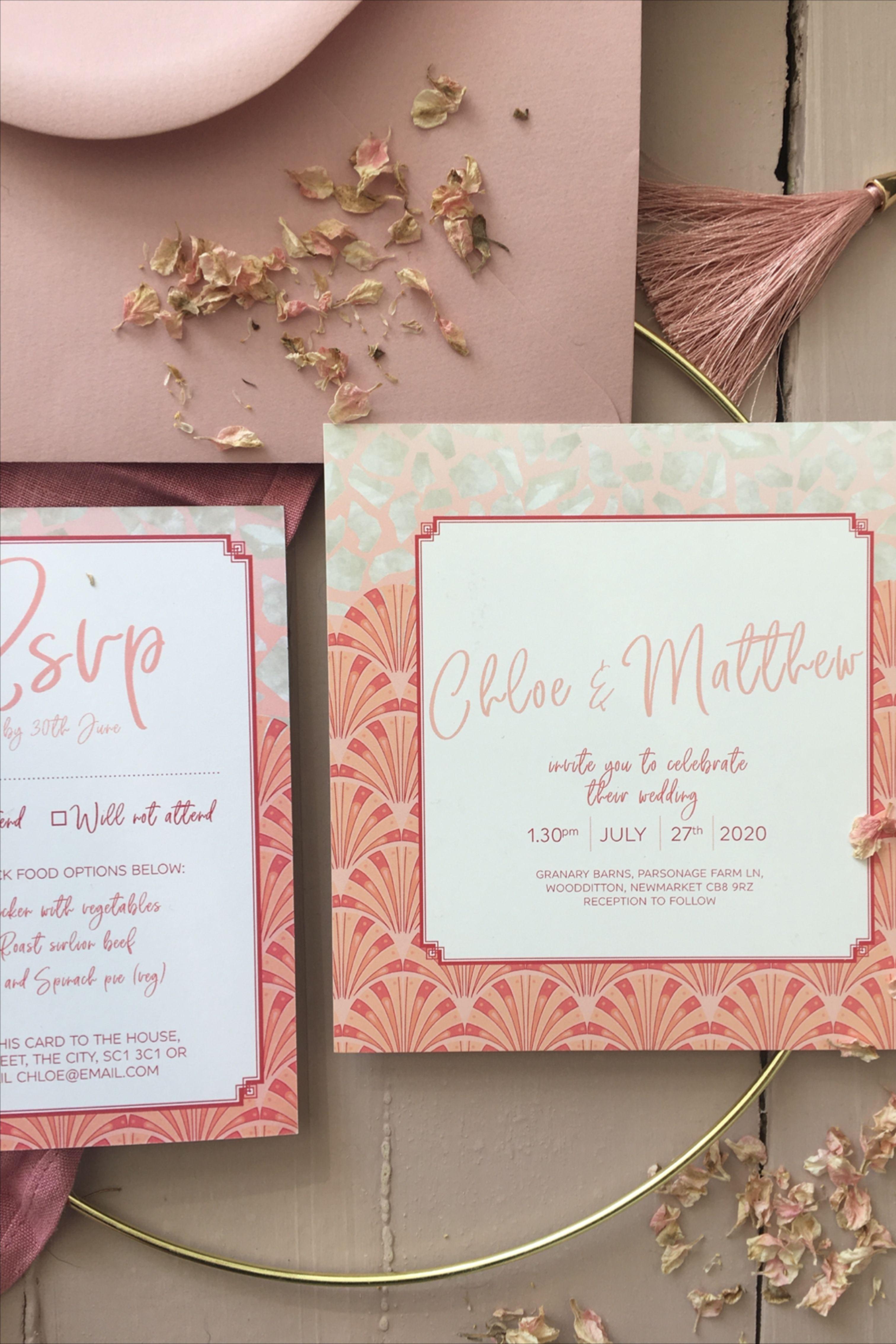 Vintage Art Deco Wedding Invitations In 2020 Pearl Wedding Invitations Square Wedding Invitations Wedding Invitations
