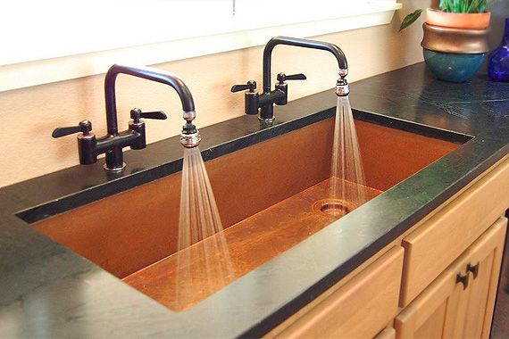 Coolest Kitchen Sinks On The Planet Copper Kitchen Sink Kitchen