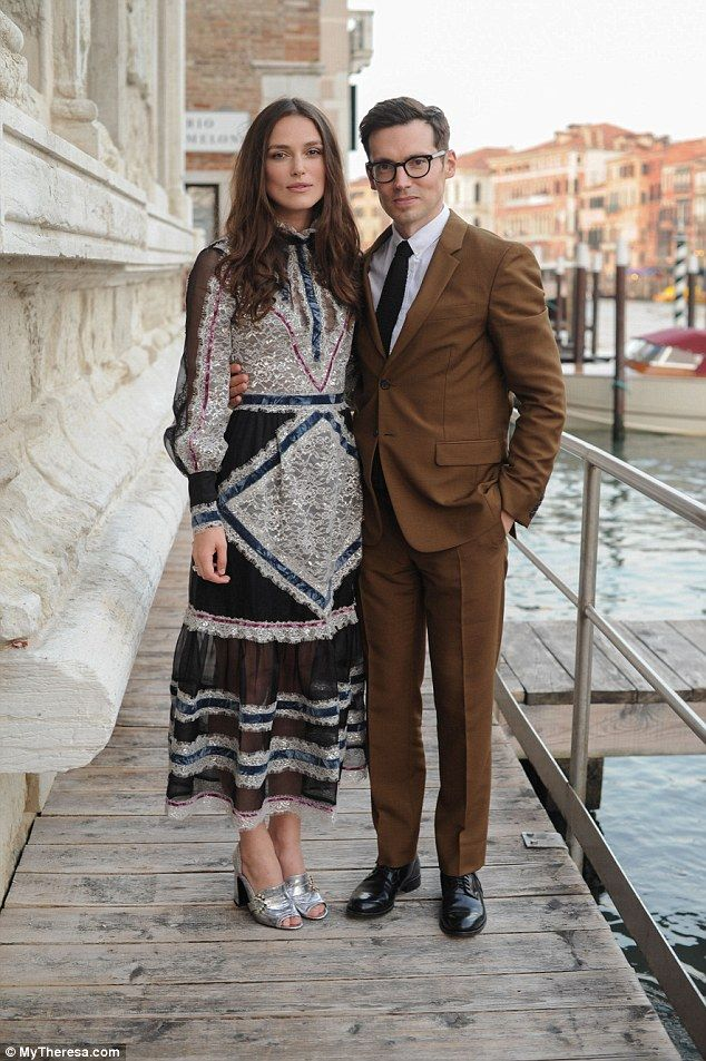 Friends in fashionable places: Keira caught up with British-Canadian designer Erdem Morali...