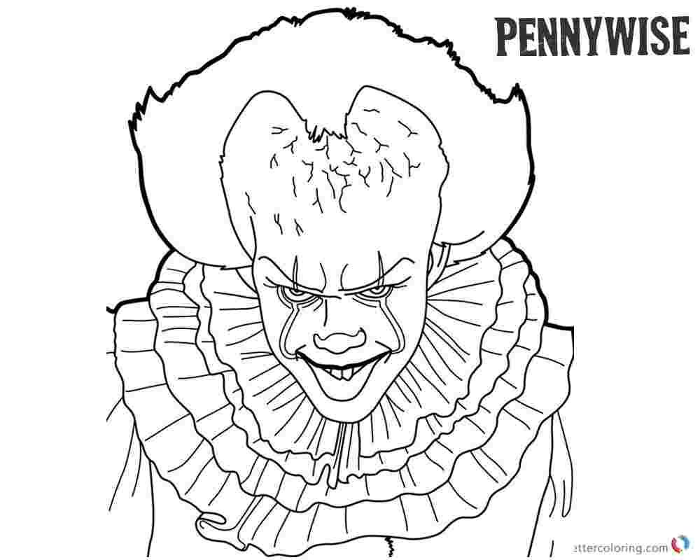 Pennywise Coloring Pages In 2020 Free Disney Coloring Pages Free Coloring Pages Emoji Coloring Pages