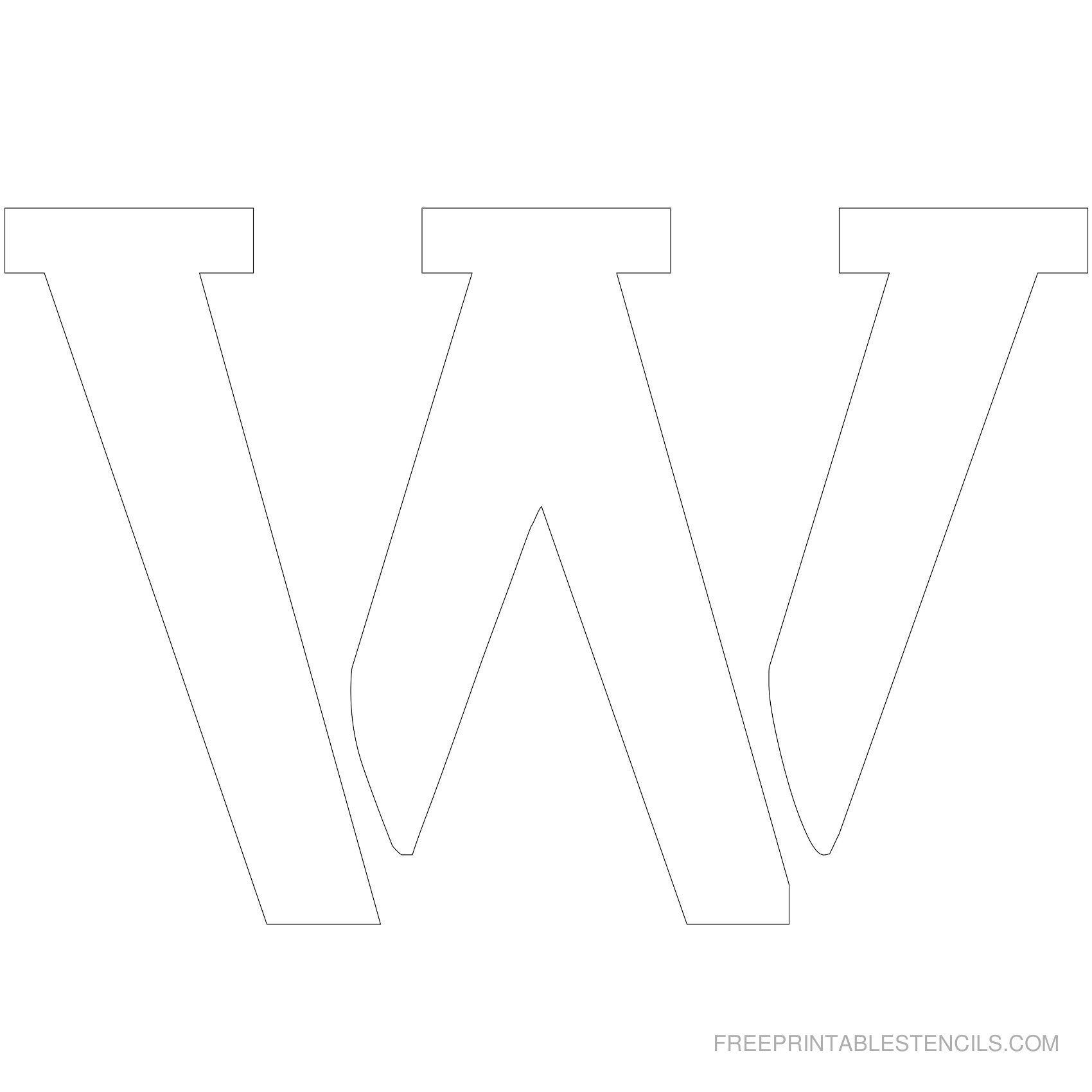 Printable 5 Inch Letter Stencil W