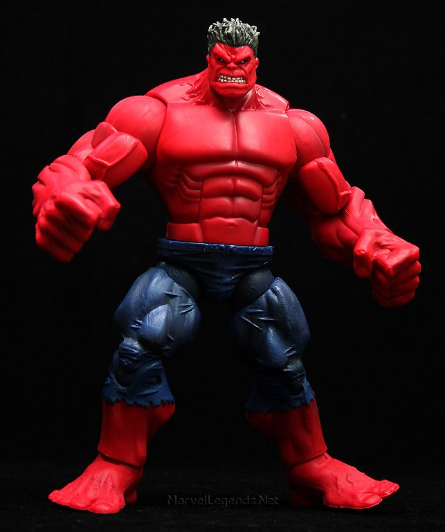 this is the Marvel Legends Red Hulk Series build a figure Red Hulk he is a great addition to your modern avengers and marvel now thunderbolts collections