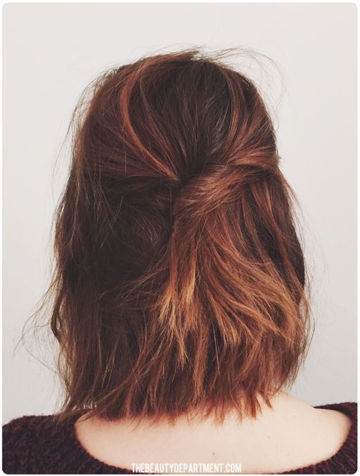 Tis the season to cut your hair off! Luckily we're amping up our short hair tutorials for fall/winter in a major way. Let's start with this textured half updo, shall we!? Products and steps HERE! http://bit.ly/TBDshorthairup