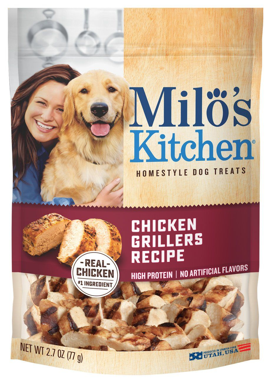 Milos Kitchen Chicken Grillers Recipe Dog Treats 2 7ounce 12pack