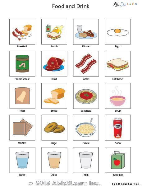 PECS - Food   alabama   Pecs pictures, Pecs communication ...