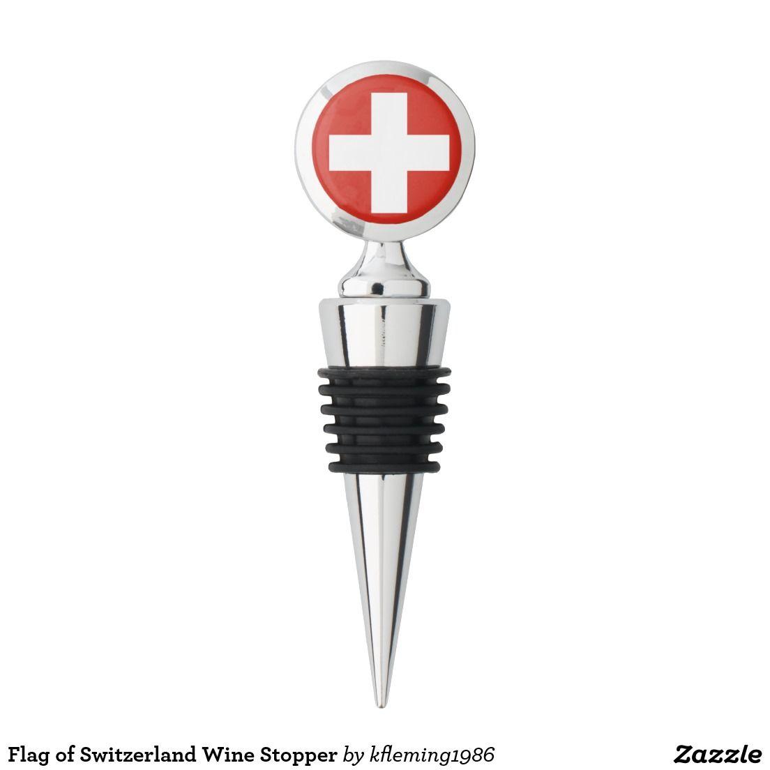 Flag of Switzerland Wine Stopper