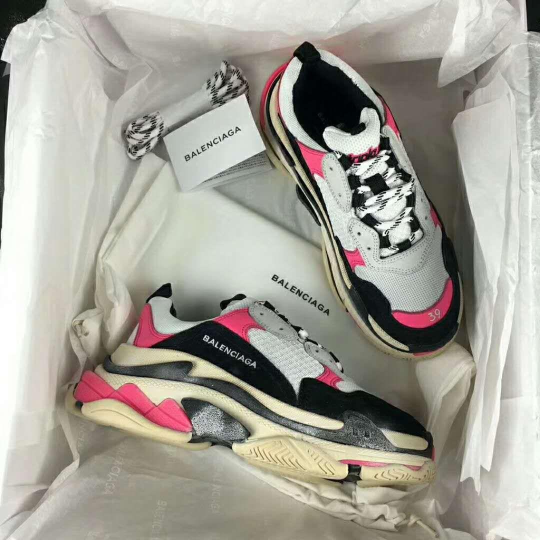 beb4ceedab49 Balenciaga Triple S Sneaker Pink Black