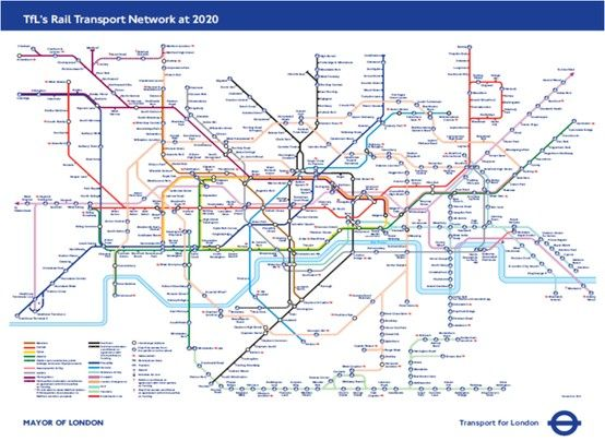 Transport For London Map.Future Map Based On The Transport For London Business Plan For 2020