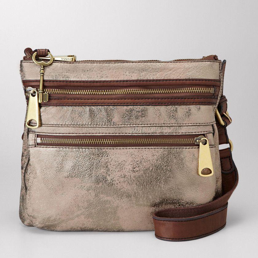 FOSSIL® Handbag Collections Explorer Women Explorer Cross-body. METALLIC 454271c777030