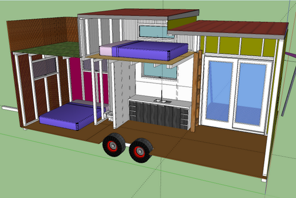 tiny house on wheels... from the tiny house blog. just raise ... on tv house plans, condo house plans, heavy duty house plans, raised roof home, windows house plans, flat house plans, raised roof kitchen, raised roof construction, garage house plans, floor house plans, raised roof design,