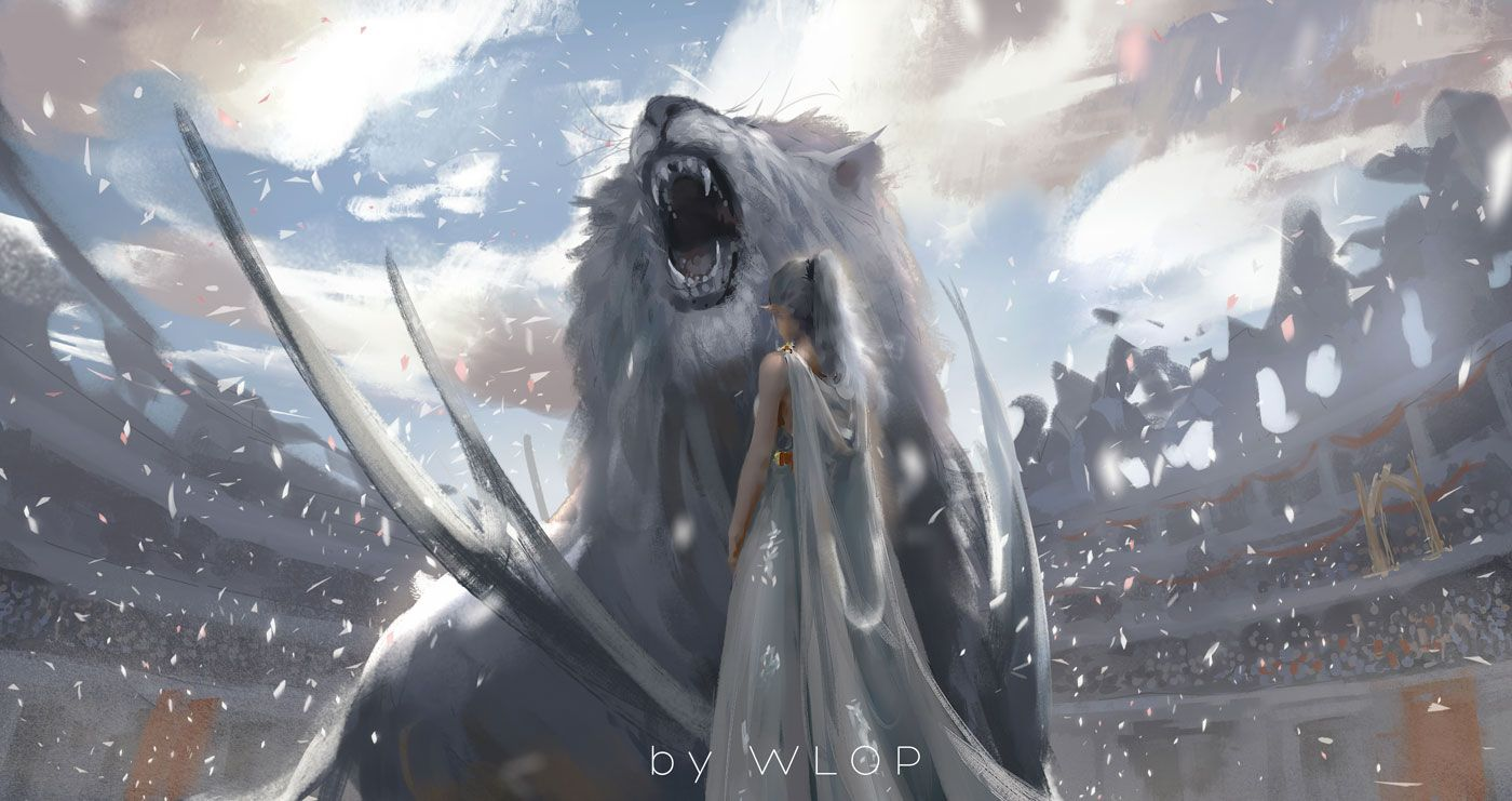 Pin By P Mochii1054 On Wlop Fantasy Artwork Concept Art Mythical Creatures Art